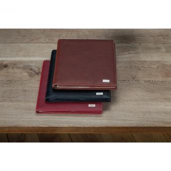Bouvino Schreibmappe mit Tablet-Fach Echtleder, drei Farben zur Auswahl