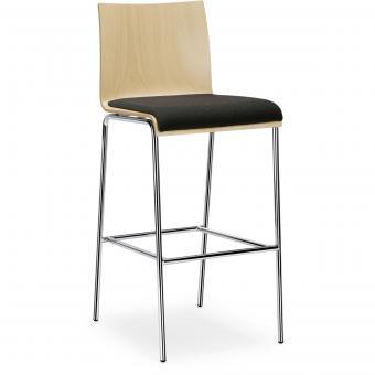 Interstuhl CURVEis1 Barhocker, gepolsterter Sitz, hohe Rückenlehne