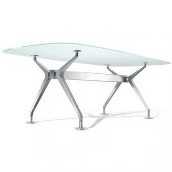 Interstuhl Silver 858S Konferenztisch, Bootsform, klein