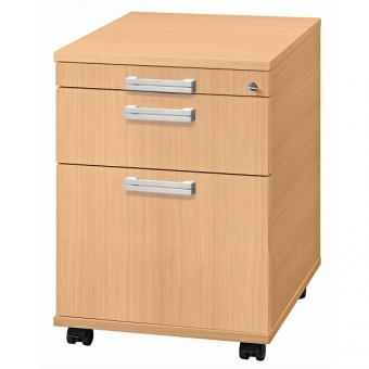 nienhaus rollcontainer solid 58 cm tief mit. Black Bedroom Furniture Sets. Home Design Ideas