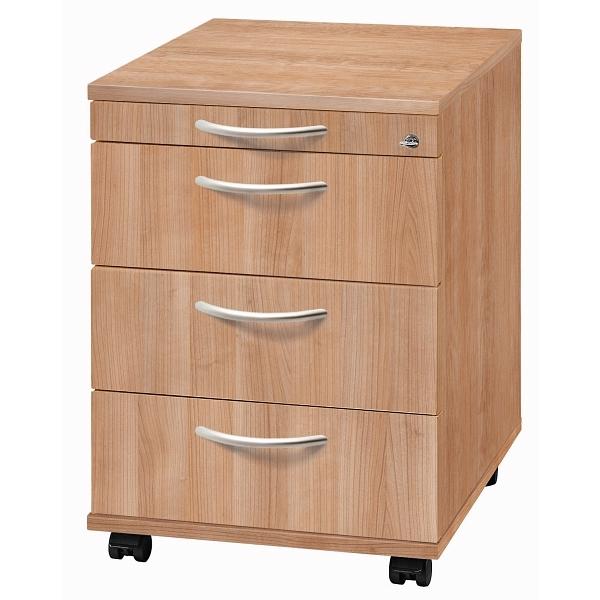 nienhaus rollcontainer solid 58 cm tief mit 3 sch ben. Black Bedroom Furniture Sets. Home Design Ideas