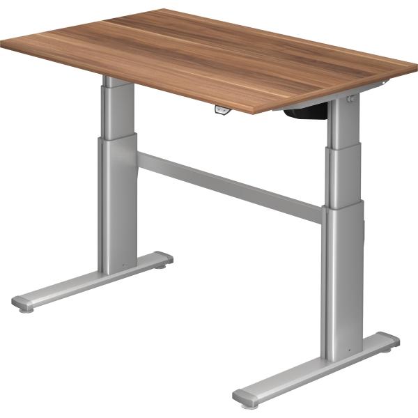 Büro-Tisch 80x80 cm Arbeitstisch höhenverstellbar 68-76 cm Holz Metall Ahorn