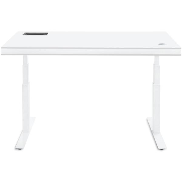TableAir höhenverstellbarer Steh- und Schreibtisch, white glossy ...