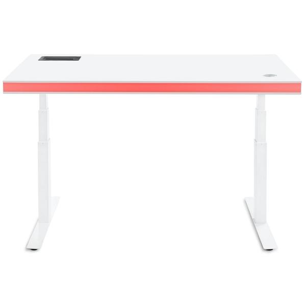 Der moderne Tableair Schreibtisch in Weiß mit LED Licht